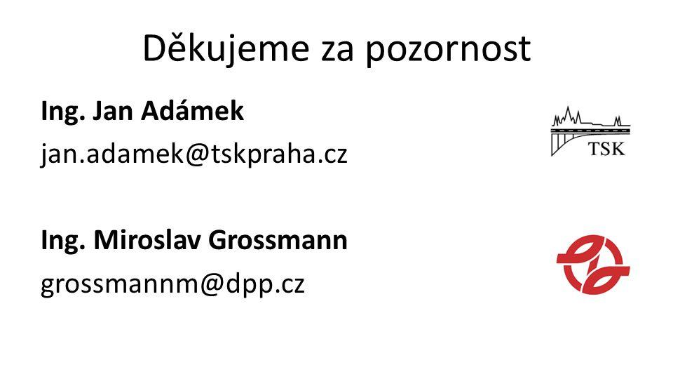 Děkujeme za pozornost Ing.Jan Adámek jan.adamek@tskpraha.cz Ing.