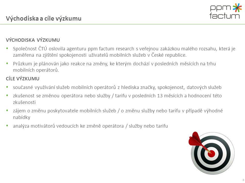 Metodika 4 Výzkum Vnímání změn na trhu mobilních operátorů Dodavatel ppm factum research s.r.o.