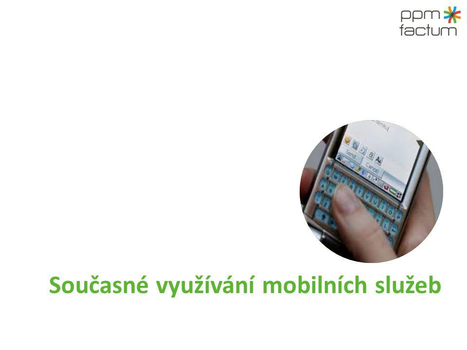 Využívání klasického mobilního telefonu je vyšší než využívání smartphonů.