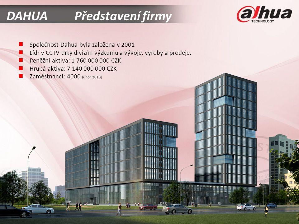  Společnost Dahua byla založena v 2001  Lídr v CCTV díky divizím výzkumu a vývoje, výroby a prodeje.
