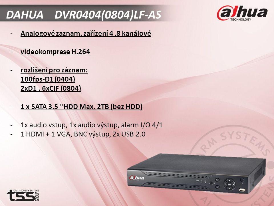 DAHUA DVR0404(0804)LF-AS -Analogové zaznam.