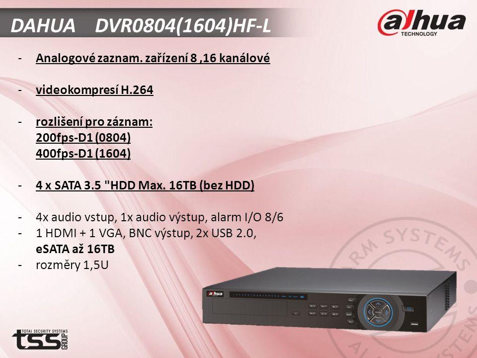 DAHUA DVR0804(1604)HF-L -Analogové zaznam.