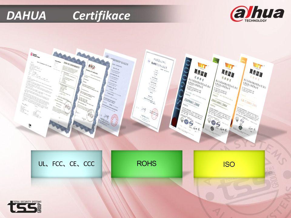 DAHUA Certifikace