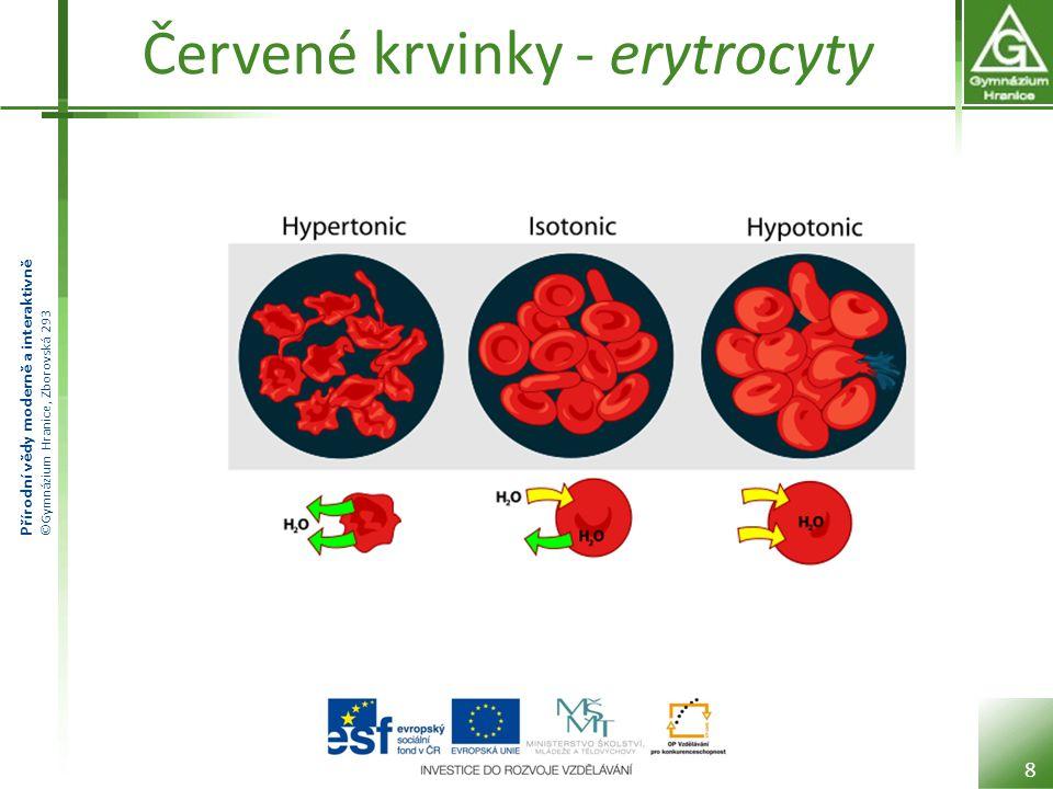 Přírodní vědy moderně a interaktivně ©Gymnázium Hranice, Zborovská 293 Červené krvinky - erytrocyty 8