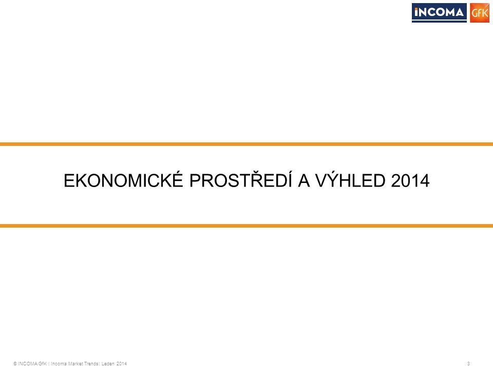 © INCOMA GfK | Incoma Market Trends| Leden 2014 3 EKONOMICKÉ PROSTŘEDÍ A VÝHLED 2014