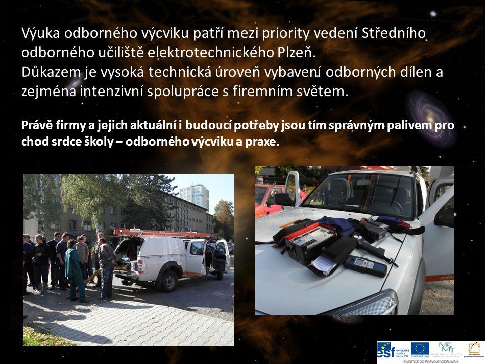 3 Výuka odborného výcviku patří mezi priority vedení Středního odborného učiliště elektrotechnického Plzeň.