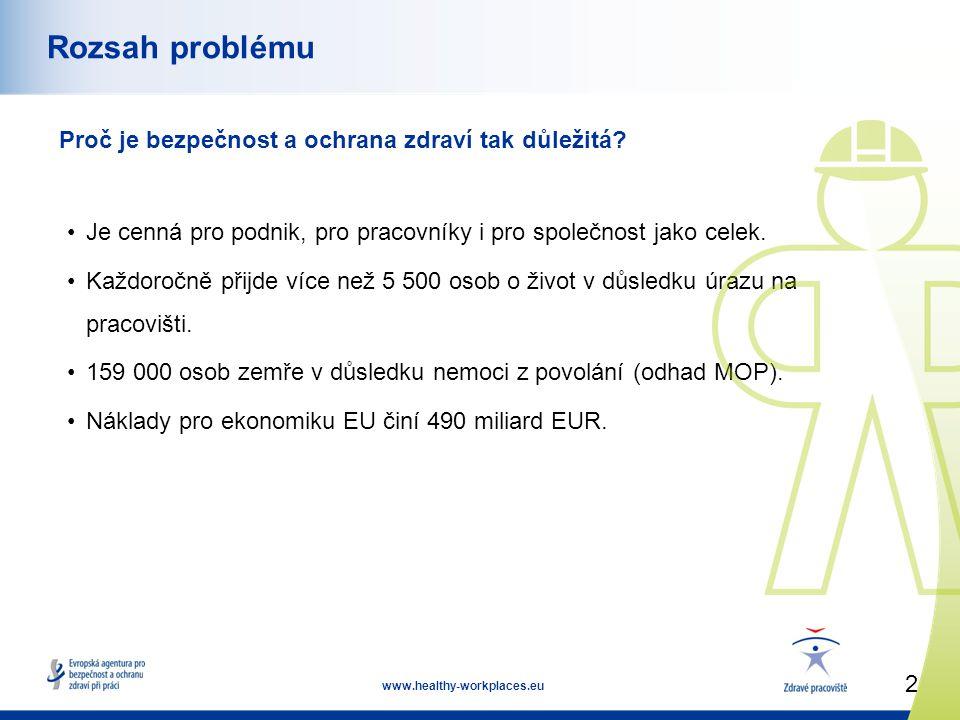 2 www.healthy-workplaces.eu Rozsah problému Proč je bezpečnost a ochrana zdraví tak důležitá.