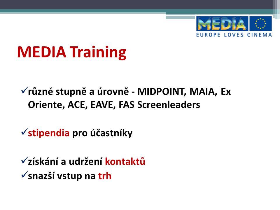MEDIA Development Podpora přípravy a vývoje filmových, televizních a interaktivních děl 2002 – 2012 79 mil.