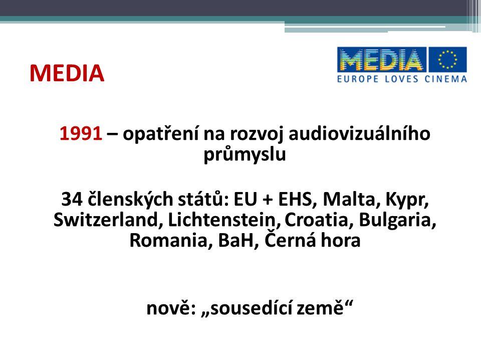 MEDIA - PRINCIPY • přidaná evropská hodnota projektů • diverzita • podpora konkurenceschopnosti a spolupráce evropských profesionálů a společností • podpora nezávislých společností • podpora kvalitních a udržitelných projektů