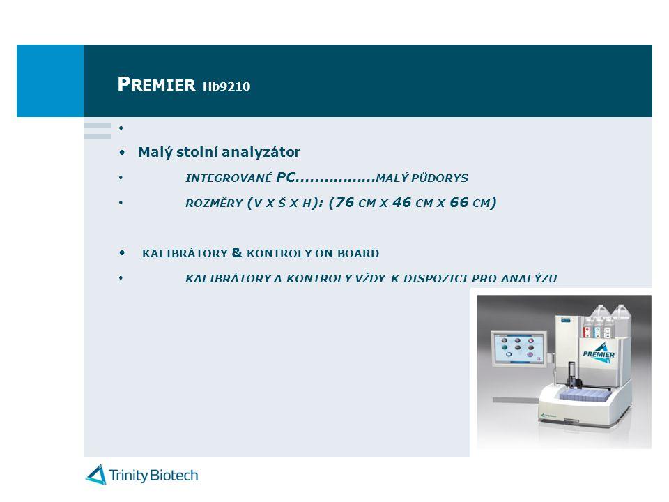P REMIER Hb9210 • •Malý stolní analyzátor • INTEGROVANÉ PC.................