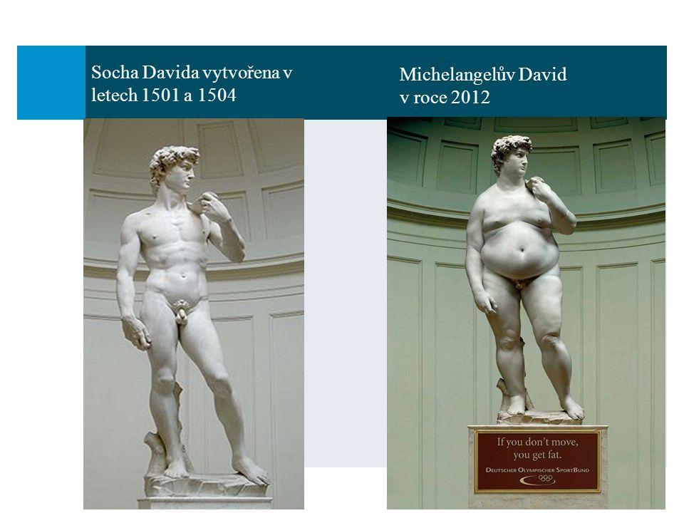 Michelangelův David v roce 2012 Socha Davida vytvořena v letech 1501 a 1504