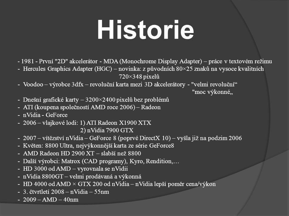 Historie - 1981 - První