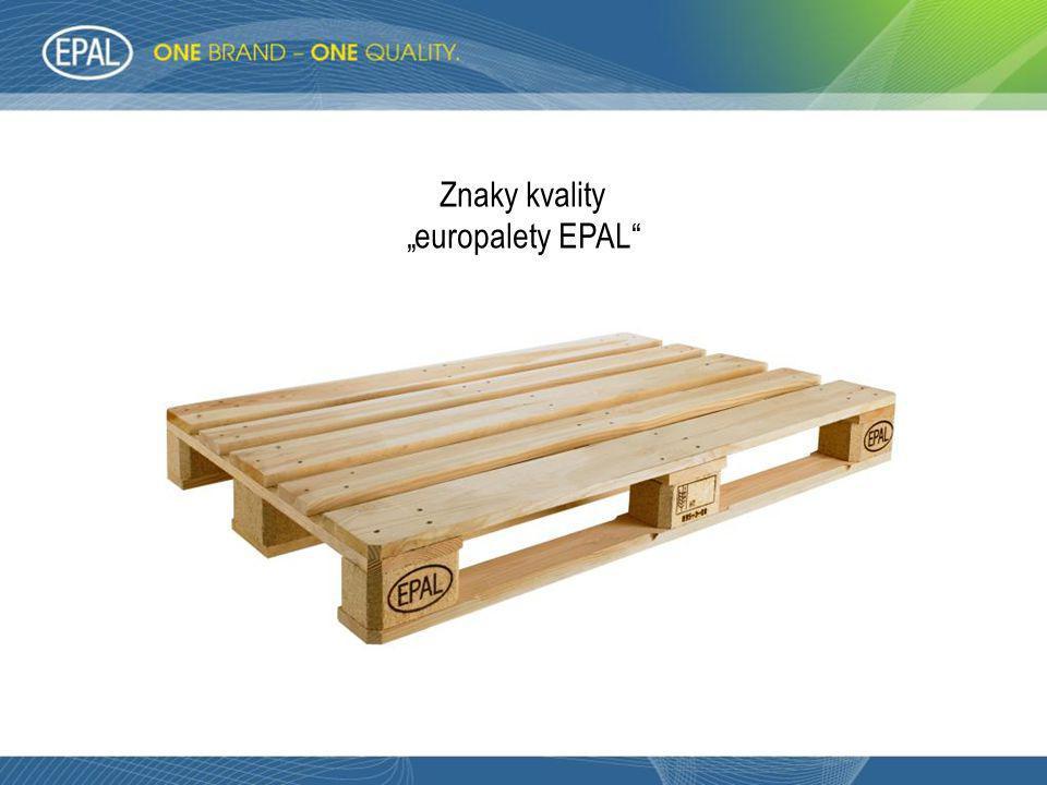 "Znaky kvality ""europalety EPAL"""