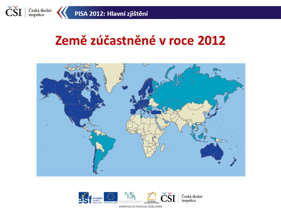 Země zúčastněné v roce 2012 PISA 2012: Hlavní zjištění