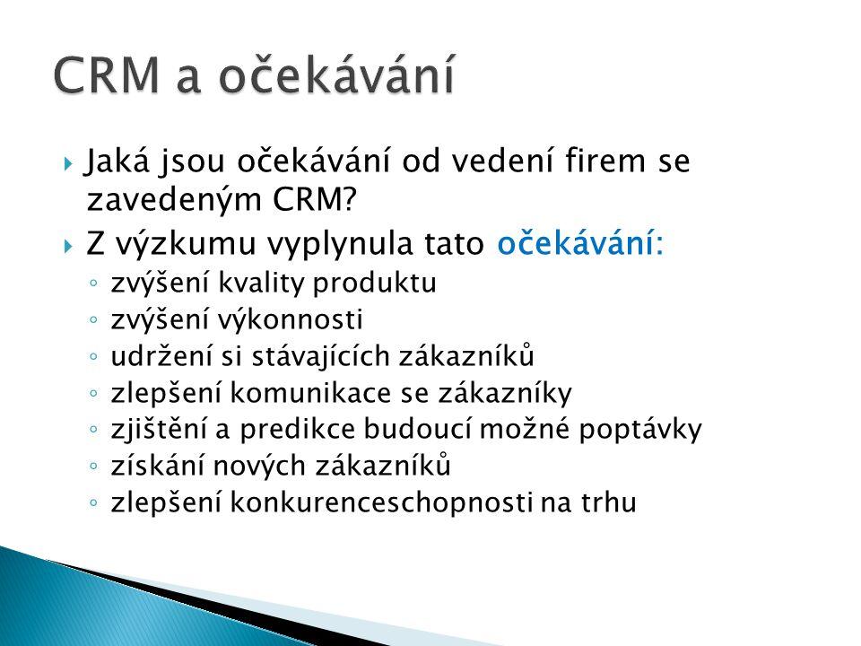  Předmětem dalšího zkoumání bude podrobnější analýza firem se zavedeným CRM, oslovení firem v rámci jednoho odvětví a porovnání jejich obratů a podílů na trhu  Sledování vývoje zavádění CRM v České republice a porovnání vývoje se zahraničím