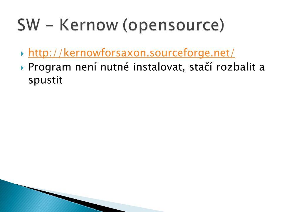  http://kernowforsaxon.sourceforge.net/ http://kernowforsaxon.sourceforge.net/  Program není nutné instalovat, stačí rozbalit a spustit
