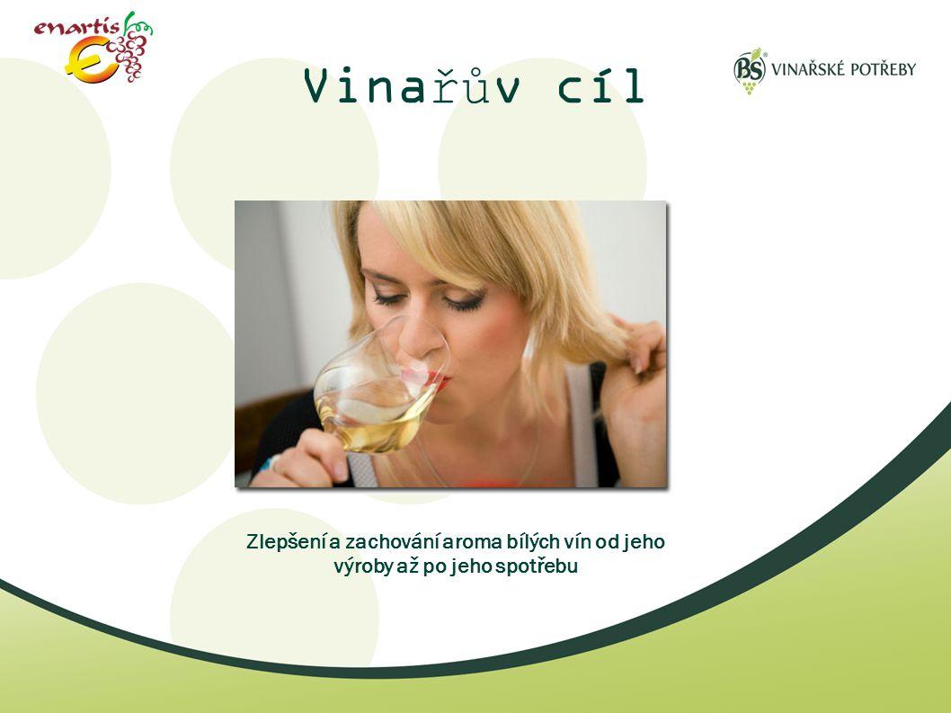 Vinařův cíl Zlepšení a zachování aroma bílých vín od jeho výroby až po jeho spotřebu