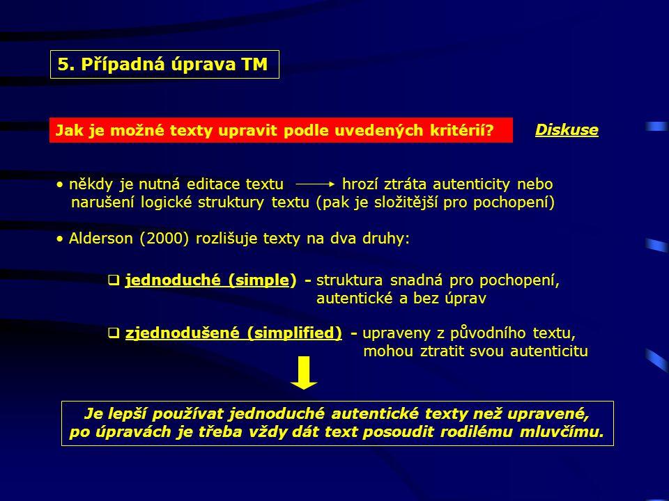 Jak je možné texty upravit podle uvedených kritérií.