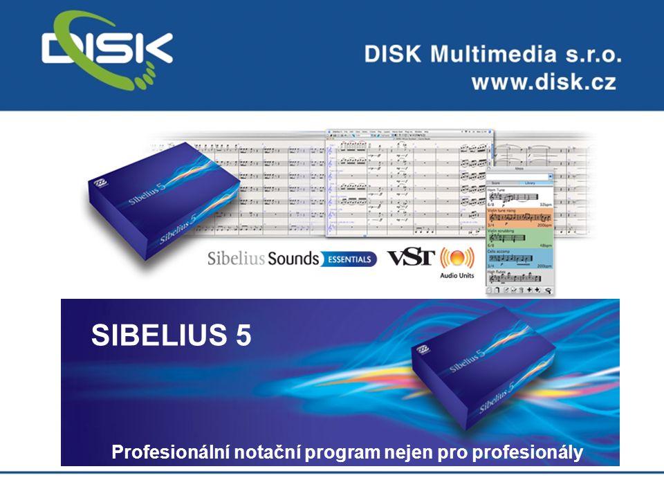 Profesionální notační program nejen pro profesionály SIBELIUS 5