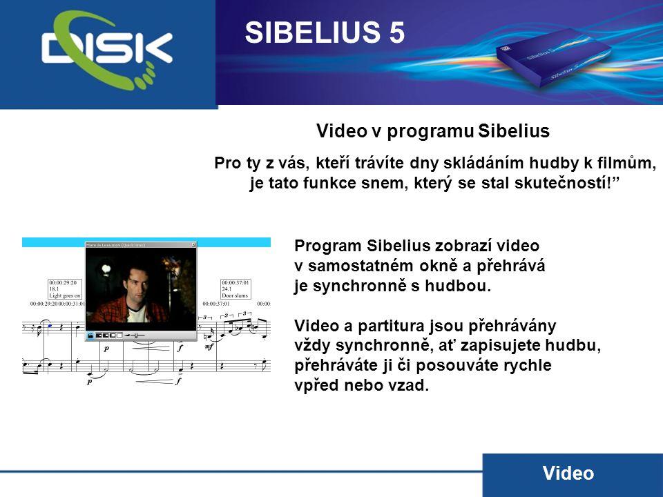 """Video Video v programu Sibelius Pro ty z vás, kteří trávíte dny skládáním hudby k filmům, je tato funkce snem, který se stal skutečností!"""" Program Sib"""