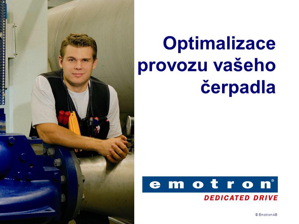 © Emotron AB Optimalizace provozu vašeho čerpadla