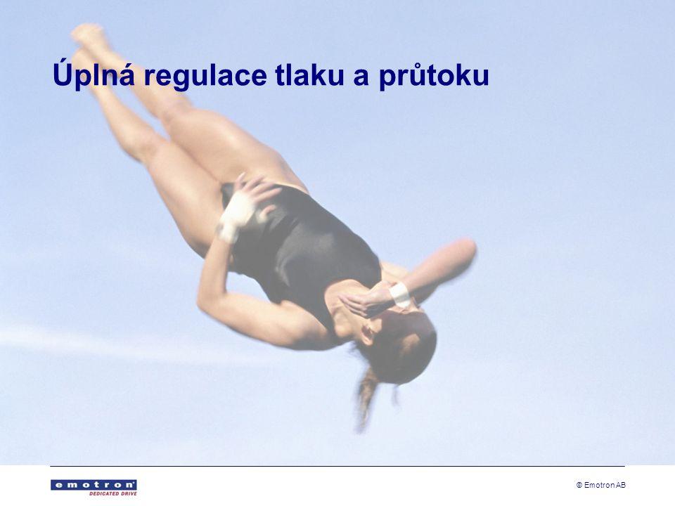 © Emotron AB Úplná regulace tlaku a průtoku