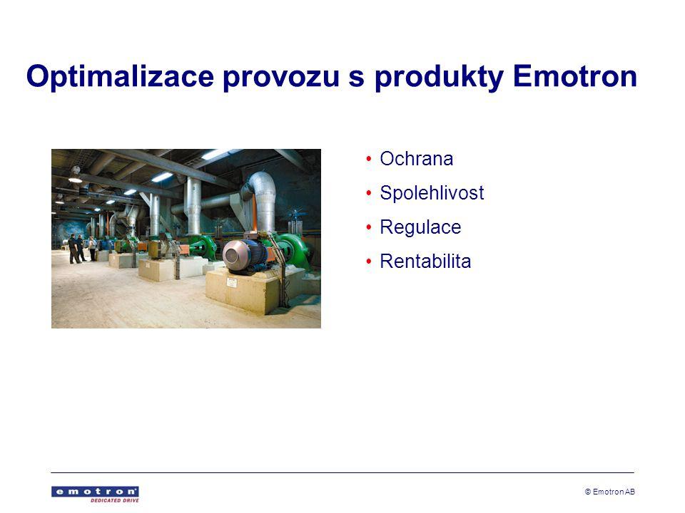 © Emotron AB Optimalizace provozu s produkty Emotron •Ochrana •Spolehlivost •Regulace •Rentabilita