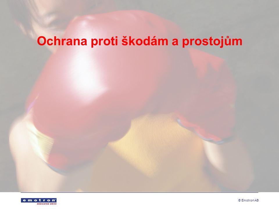 © Emotron AB Ochrana proti škodám a prostojům