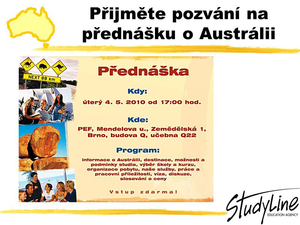 Přijměte pozvání na přednášku o Austrálii