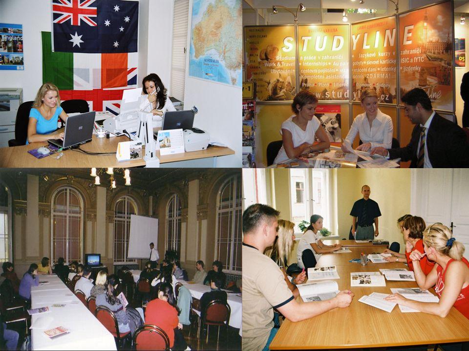 Jazykové kurzy v zahraničí Velká Británie IrskoMaltaNěmeckoRakouskoFrancieŠpanělskoItálie Nový Zéland USA JARAustrálie Kanada Japonsko Jižní Amerika Rusko STUDYLINE