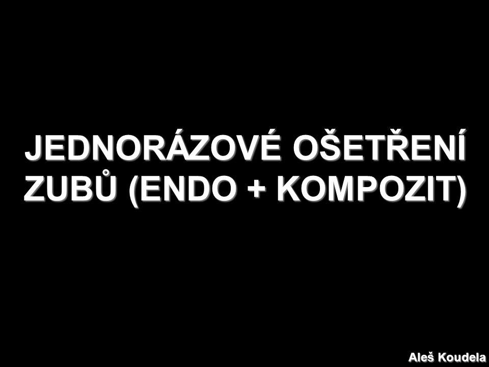 JEDNORÁZOVÉ OŠETŘENÍ ZUBŮ (ENDO + KOMPOZIT) Aleš Koudela
