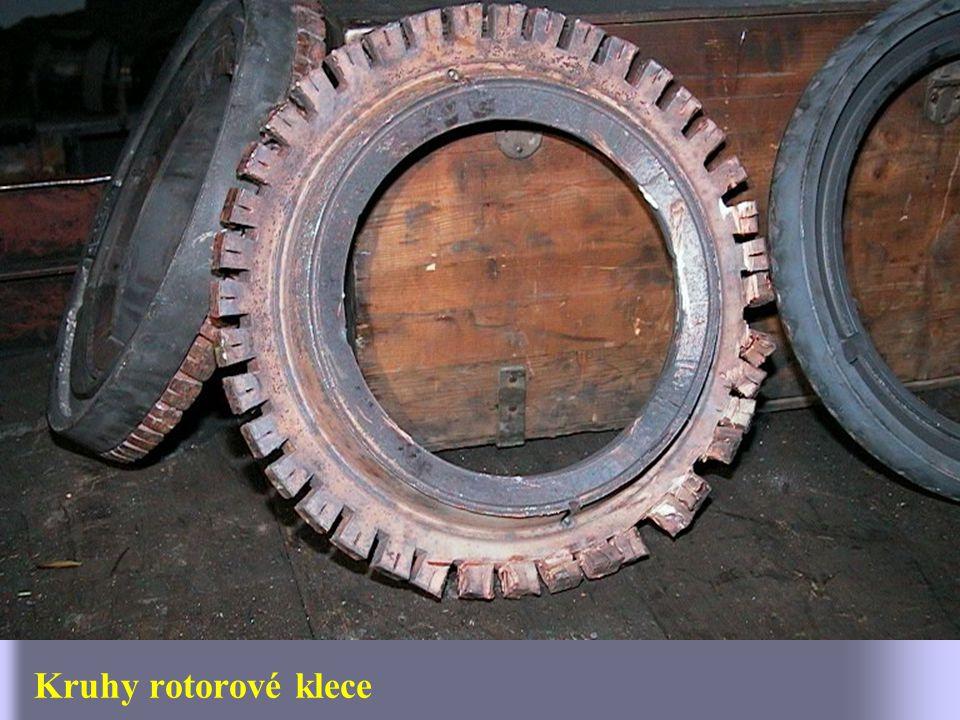 Detail čela rotoru bez čelního kruhu