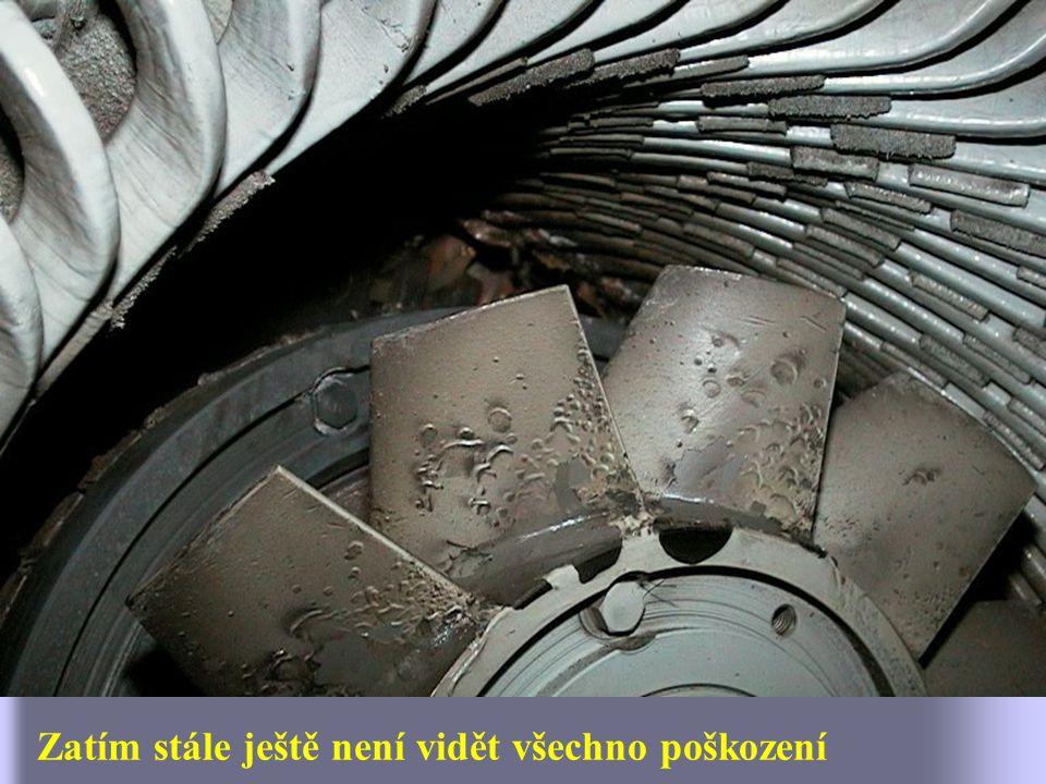 Poškození rotoru - lopatky ventilátoru