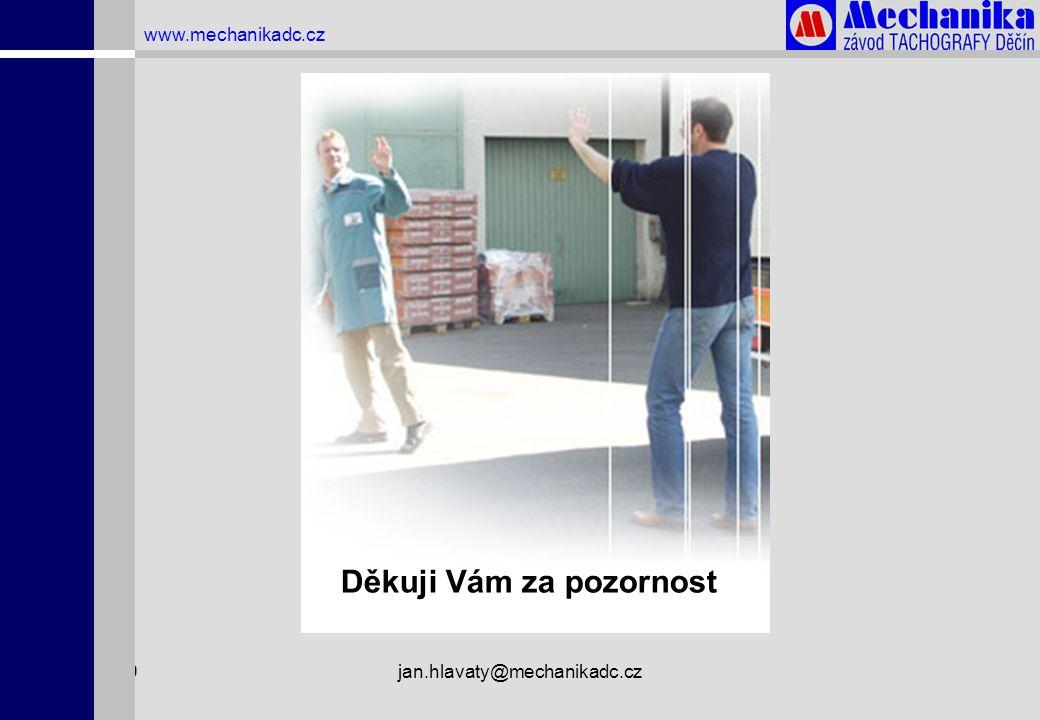 1.4.2009jan.hlavaty@mechanikadc.cz www.mechanikadc.cz Děkuji Vám za pozornost