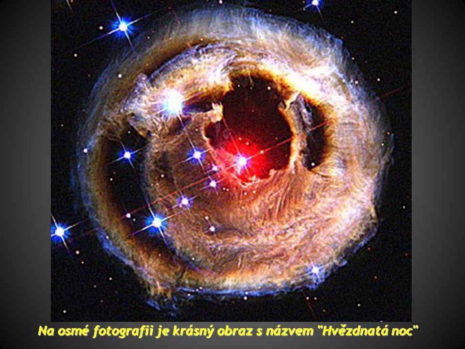 Na sedmé najdeme fragment z Labutí mlhoviny, která se nachází ve vzdálenosti 5500 světelných let a je označován jako
