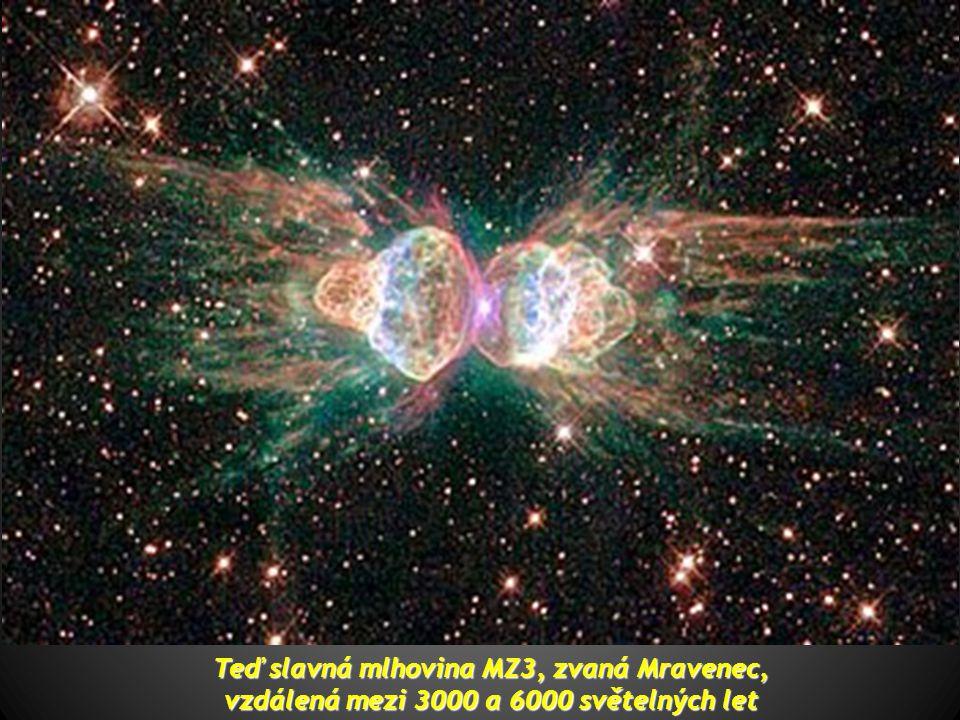 Nejprve vidíme Galaxii Klobouk, v katalogu Messier také nazývanou M 104, vzdálenou asi 28 milionů světelných let. Fotografie je považována za jednu z