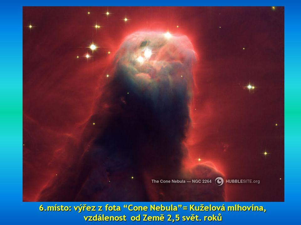 """5. místo zaujímá """"Hour Glass Nebula"""" = mlhovina vzniklá z exploze hvězdy, vzdálená asi 8000 světelných let 5. místo zaujímá """"Hour Glass Nebula"""" = mlho"""