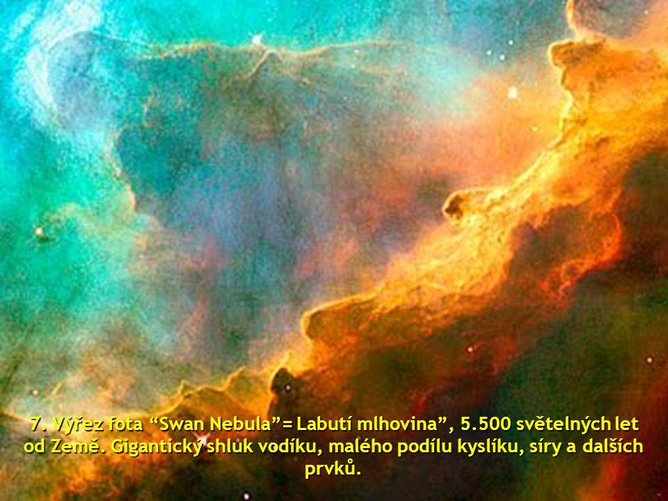 """6.místo: výřez z fota """"Cone Nebula""""= Kuželová mlhovina, vzdálenost od Země 2,5 svět. roků"""