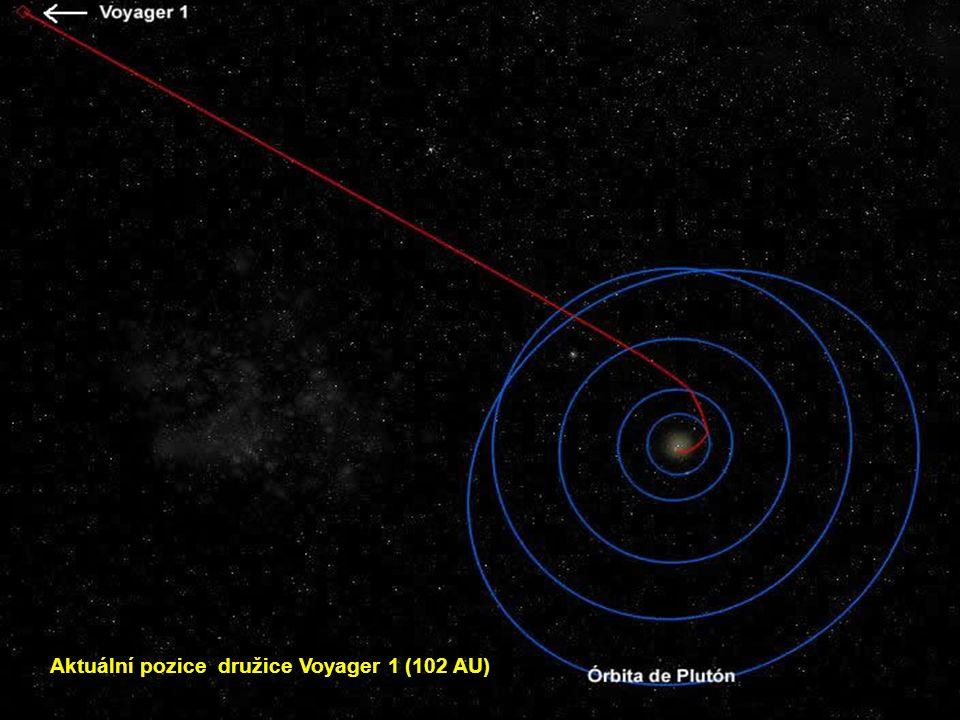 Voyager 1 : Tento satelit byl vyslán na pouť vesmírem v roce 1977, toho času se nachází ve vzdálenosti víc jak 16 miliard km od Země a stále ještě fun