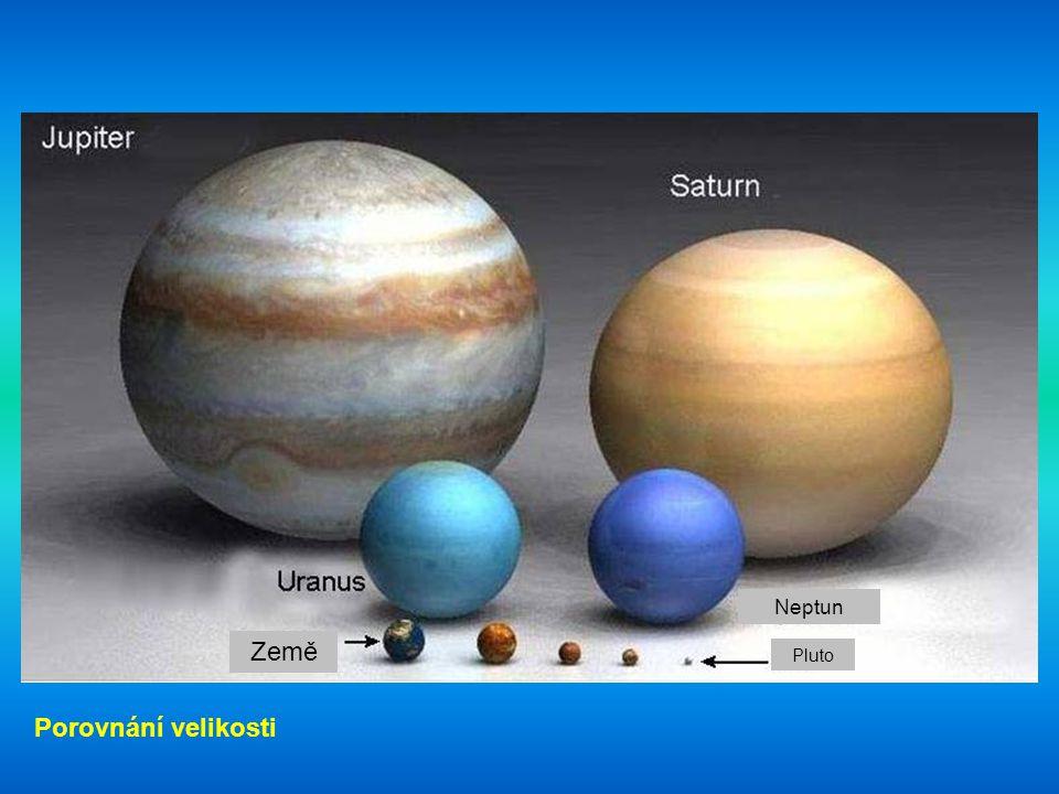Země PlutoMarsMerkur Venuše Porovnání velikosti