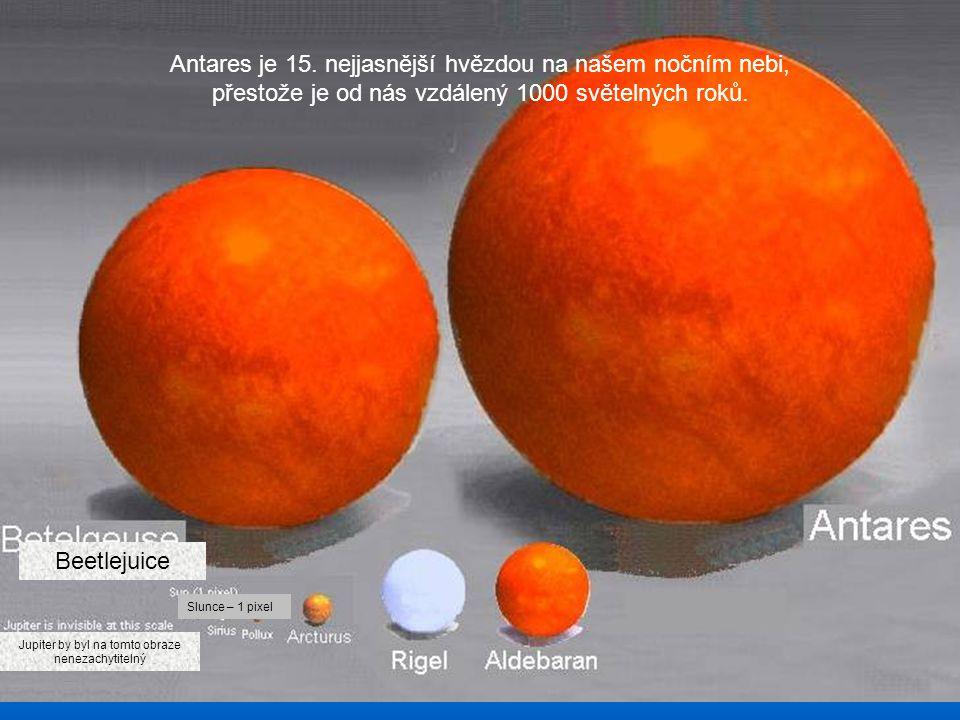 Slunce Jupiter by byl na tomto obrázku velký jen jako jeden pixel! A Země ještě menší!. Porovnání velikosti