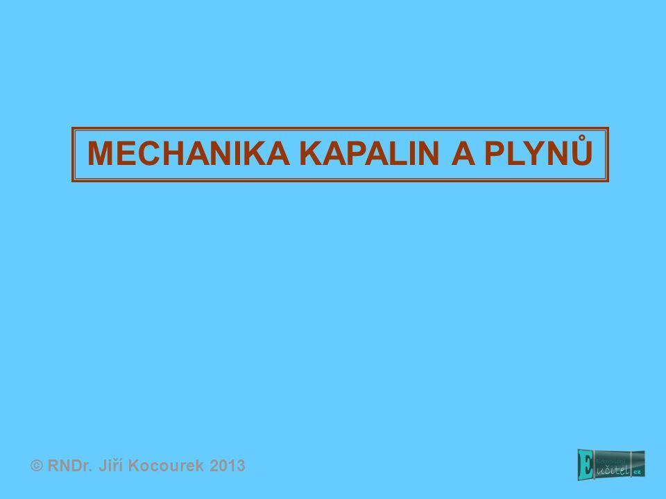 Tlak v kapalinách a plynech Fyzikální veličina tlak: F...