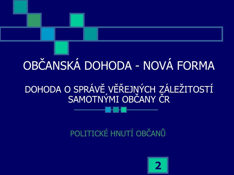 23 Jaký je vztah mezi zvolenými poslanci a vládou?