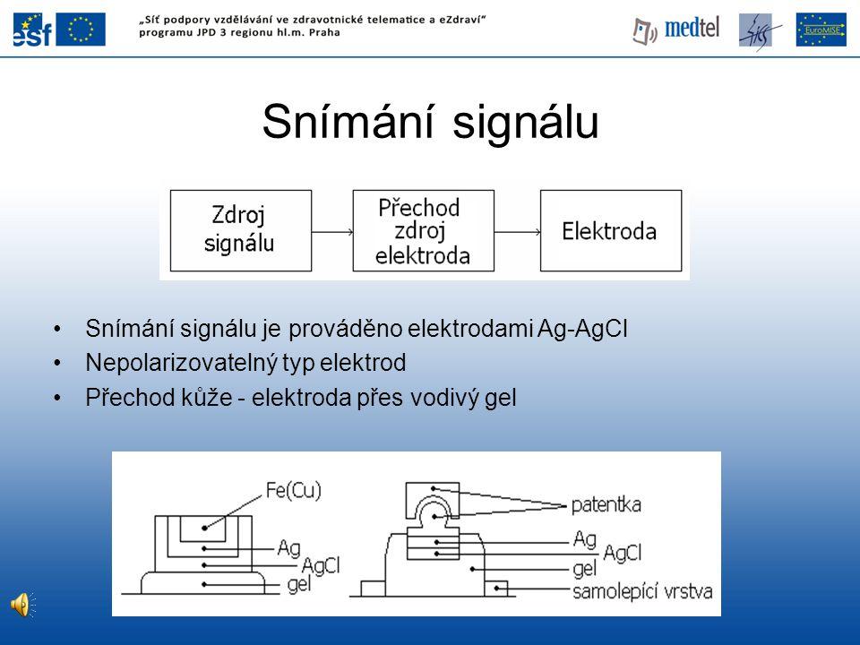 Příklad filtrace EKG I •Superponování EKG signálu na pomalé frekvence •V EKG častý artefakt - frekvence dýchání (do 0.66 Hz)