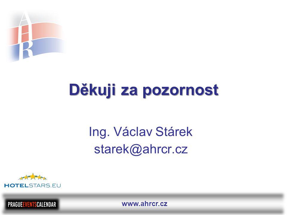 www.ahrcr.cz Děkuji za pozornost Ing. Václav Stárek starek@ahrcr.cz