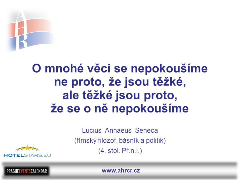 www.ahrcr.cz O mnohé věci se nepokoušíme ne proto, že jsou těžké, ale těžké jsou proto, že se o ně nepokoušíme Lucius Annaeus Seneca (římský filozof, básník a politik) (4.