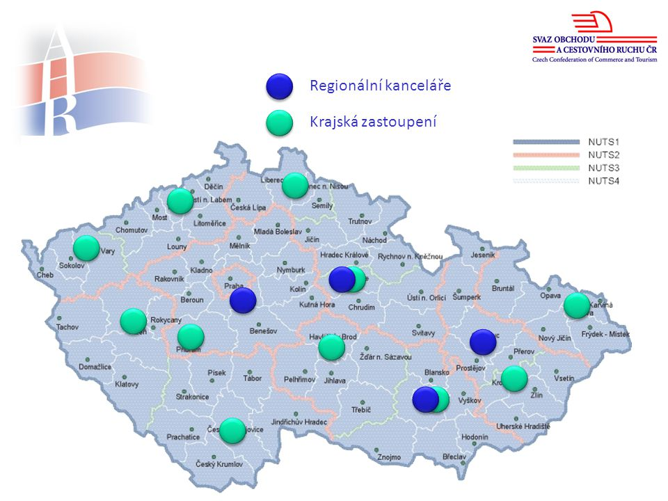 www.ahrcr.cz Regionální kanceláře Krajská zastoupení