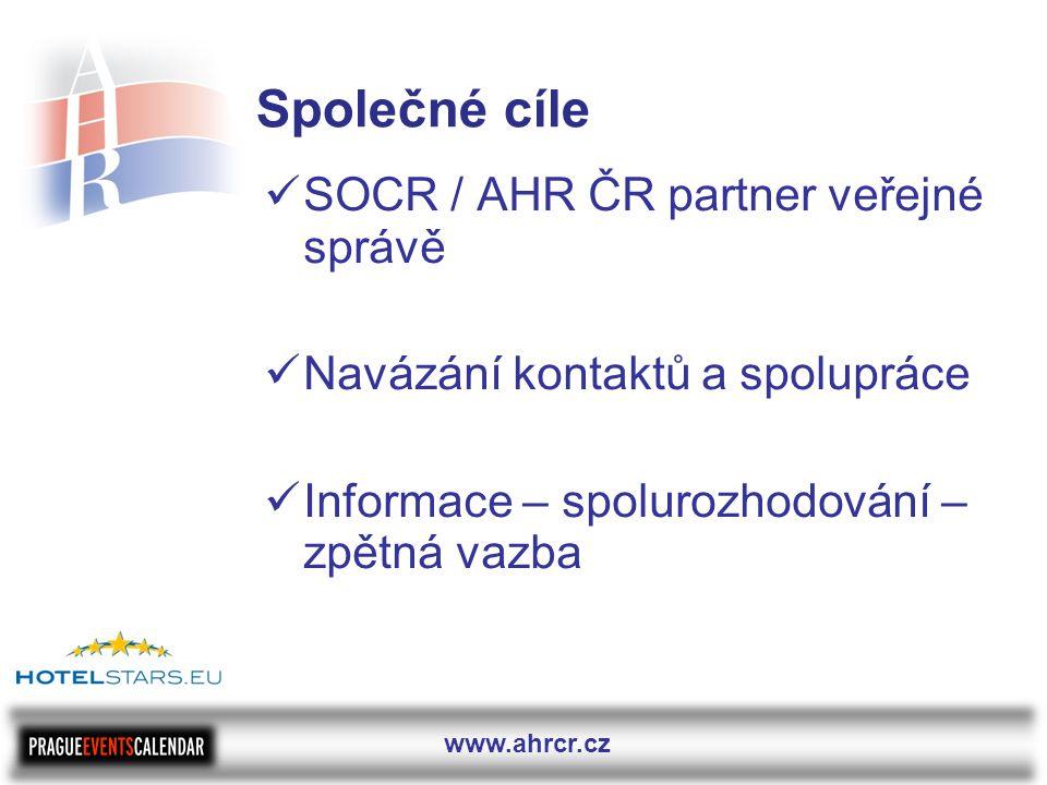 www.ahrcr.cz Společné cíle  SOCR / AHR ČR partner veřejné správě  Navázání kontaktů a spolupráce  Informace – spolurozhodování – zpětná vazba