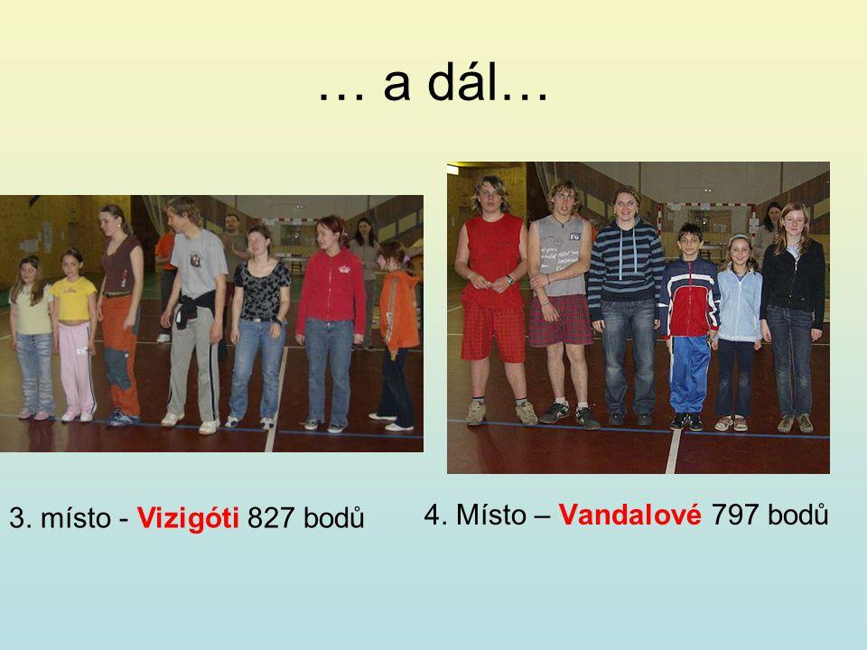 … a dál… 4. Místo – Vandalové 797 bodů 3. místo - Vizigóti 827 bodů