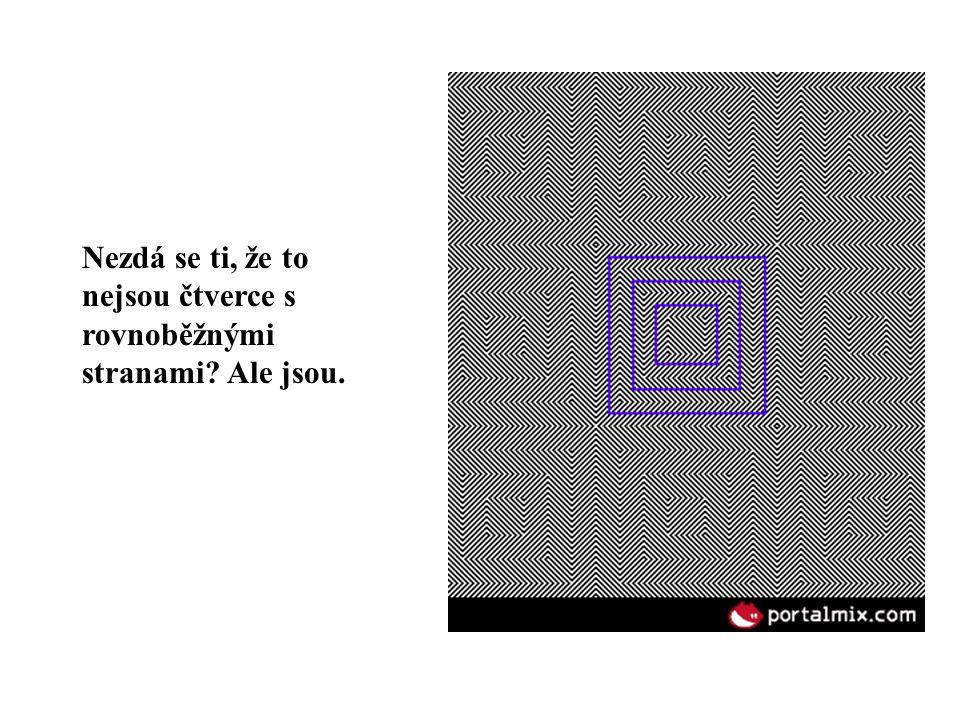 Nezdá se ti, že některé čtverce mají strany vypouklé a jiné naopak.